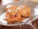 Рецепта Пържени италиански кюфтета с телешка кайма, сушени домати и сирене пармезан в бял сос от вино